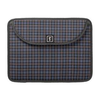 Clan Mackenzie Blue and Brown Weathered Tartan Sleeve For MacBooks