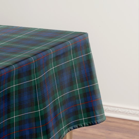 Clan Mackenzie Blue And Green Scottish Tartan Tablecloth