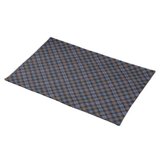 Clan Mackenzie Brown and Blue Reproduction Tartan Cloth Placemat