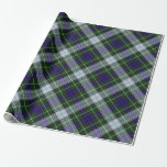 "Clan MacKenzie Dress Tartan Wrapping Paper<br><div class=""desc"">This Clan MacKenzie tartan is a beautiful green and blue and white tartan. Wrap up in MacKenzie pride!</div>"