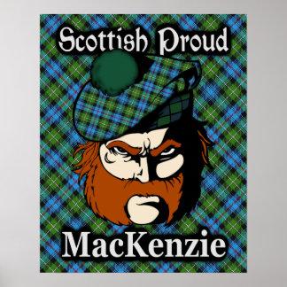 Clan MacKenzie Scottish Tartan Poster