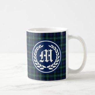 Clan MacKenzie Standard Tartan Monogram Coffee Mug