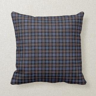 Clan Mackenzie Weathered Tartan Throw Pillow