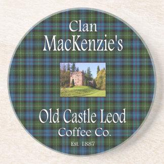 Clan MacKenzie's Old Castle Leod Coffee Co. Drink Coaster