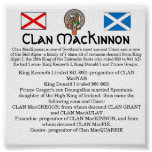Clan MacKinnon & Siol Alpin- The 7 Clans Poster