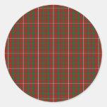 Clan MacKinnon Tartan Round Sticker