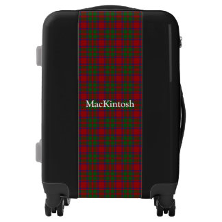 Clan MacKintosh Tartan Customize Your Name Luggage