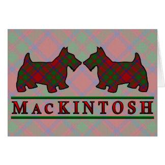 Clan MacKintosh Tartan Scottie Dogs Card