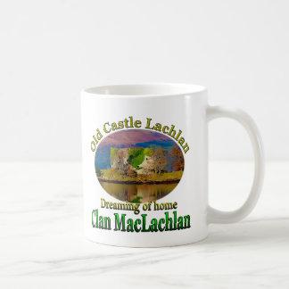 Clan MacLachlan que soña con el castillo viejo Taza