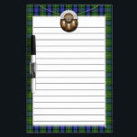 """Clan MacLaren Tartan And Sporran Dry-Erase Board<br><div class=""""desc"""">Scottish Clan MacLaren tartan with an image of a Celtic sporran on a chain. If you would like another tartan not shown here,  please feel free to message me. Please provide the STA Reference number for the tartan pattern you would like if possible.</div>"""
