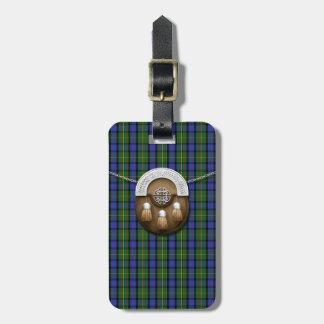 Clan MacLaren Tartan And Sporran Tag For Luggage