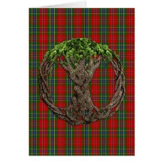Clan MacLean del tartán de Duart y del árbol célti Felicitación