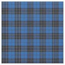 Clan MacLean Hunting Blue Black Scottish Tartan 1 Fabric