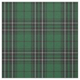 Clan MacLean Hunting Green Black Scottish Tartan Fabric
