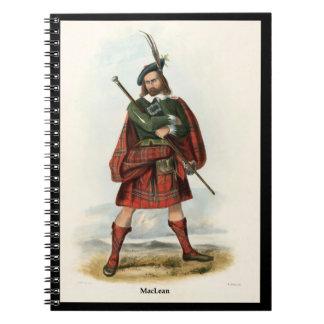 Clan MacLean Libros De Apuntes Con Espiral