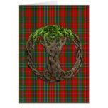Clan MacLean Of Duart Tartan And Celtic Tree Card