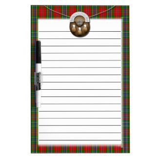 Clan MacLean Of Duart Tartan And Sporran Dry-Erase Board