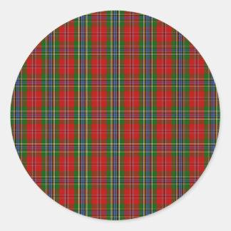 Clan MacLean Of Duart Tartan Round Stickers