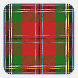 Clan MacLean Of Duart Tartan Square Sticker