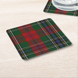 Clan MacLean Plaid Paper Coasters Square Paper Coaster