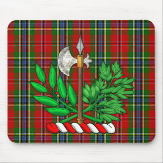 Clan MacLean Tartan And BattleAxe Crest Mouse Pad