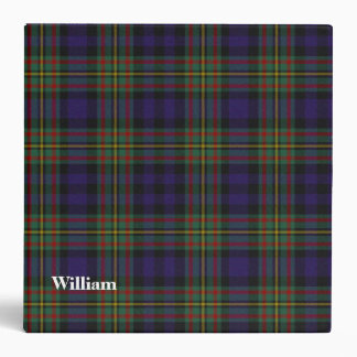 Clan MacLellan Custom Tartan Plaid Binder
