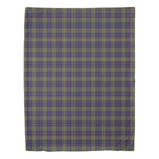 Clan Maclellan Scottish Accents Blue Green Tartan Duvet Cover at Zazzle