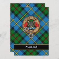 Clan MacLeod Crest Invitation