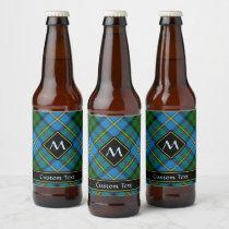 Clan MacLeod Hunting Tartan Beer Bottle Label