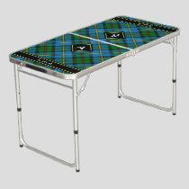 Clan MacLeod Hunting Tartan Beer Pong Table