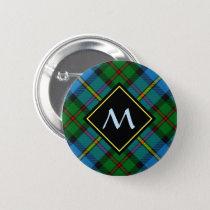 Clan MacLeod Hunting Tartan Button