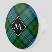 Clan MacLeod Hunting Tartan Ceramic Knob