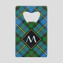 Clan MacLeod Hunting Tartan Credit Card Bottle Opener