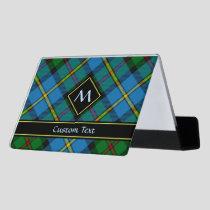 Clan MacLeod Hunting Tartan Desk Business Card Holder
