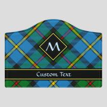 Clan MacLeod Hunting Tartan Door Sign