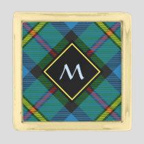 Clan MacLeod Hunting Tartan Gold Finish Lapel Pin