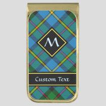 Clan MacLeod Hunting Tartan Gold Finish Money Clip