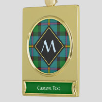 Clan MacLeod Hunting Tartan Gold Plated Banner Ornament