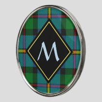 Clan MacLeod Hunting Tartan Golf Ball Marker