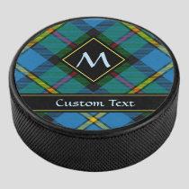 Clan MacLeod Hunting Tartan Hockey Puck