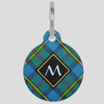Clan MacLeod Hunting Tartan Pet ID Tag