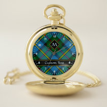 Clan MacLeod Hunting Tartan Pocket Watch
