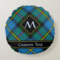 Clan MacLeod Hunting Tartan Round Pillow