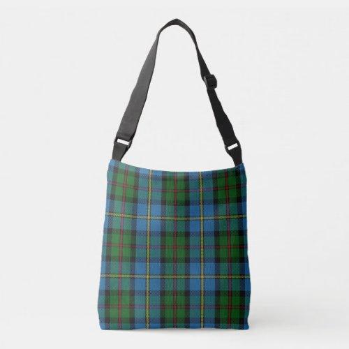 Clan MacLeod of Harris Blue Green Tartan Plaid Crossbody Bag