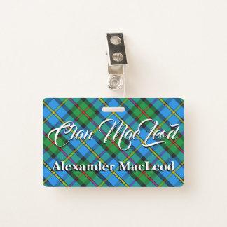 Clan MacLeod of Harris Tartan Badge
