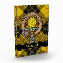 Clan MacLeod of Lewis Crest Acrylic Award