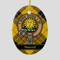Clan MacLeod of Lewis Crest Ceramic Ornament