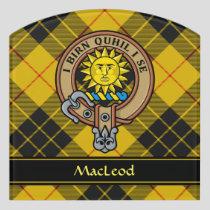 Clan MacLeod of Lewis Crest Door Sign