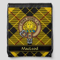 Clan MacLeod of Lewis Crest Drawstring Bag