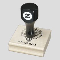 Clan MacLeod of Lewis Crest Rubber Stamp